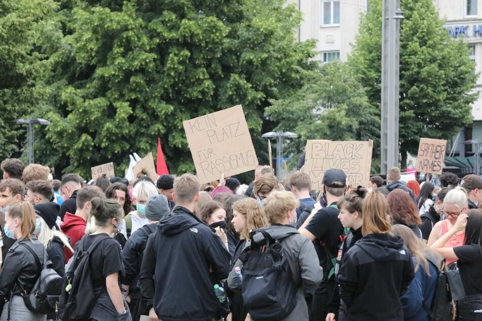 George-Floyd-Demo in Leipzig: 15.000 Teilnehmer setzen Zeichen gegen Rassismus