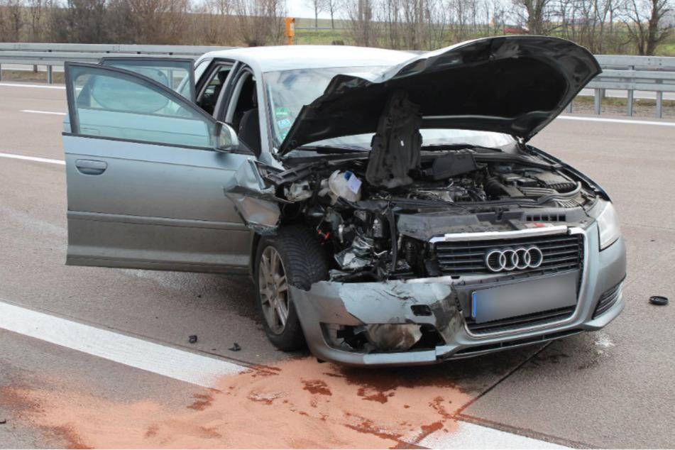 Vollsperrung nach Unfall auf der A14 bei Leipzig