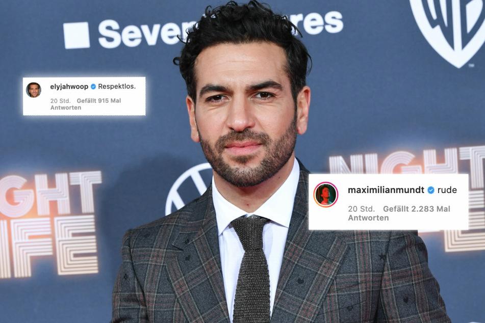 """Schauspieler Elyas M'Barek (38) bezeichnet den Beitrag von Netflix als """"Respektlos"""". Auch Maximilian Mundt äußert sich in einem Kommentar (r)."""
