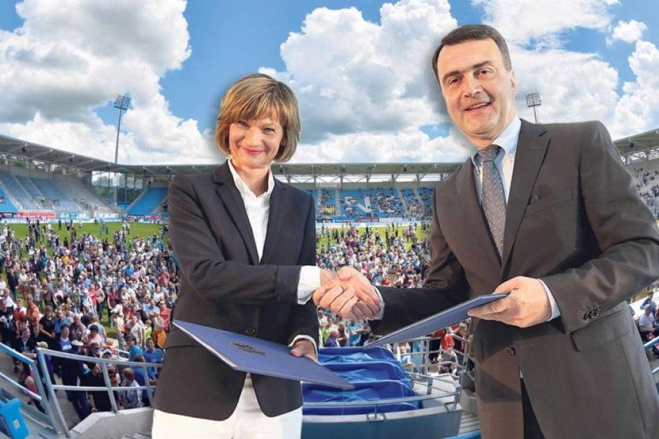 MEGA-Eröffnungsparty: Die Chemnitzer lieben ihr neues Stadion