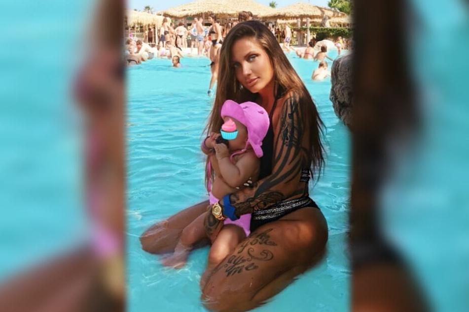 Der Instagram-Screenshot zeigt Rapperin Schwesta Ewa zusammenb mit ihrer Tochter Aaliyah Jeyla.