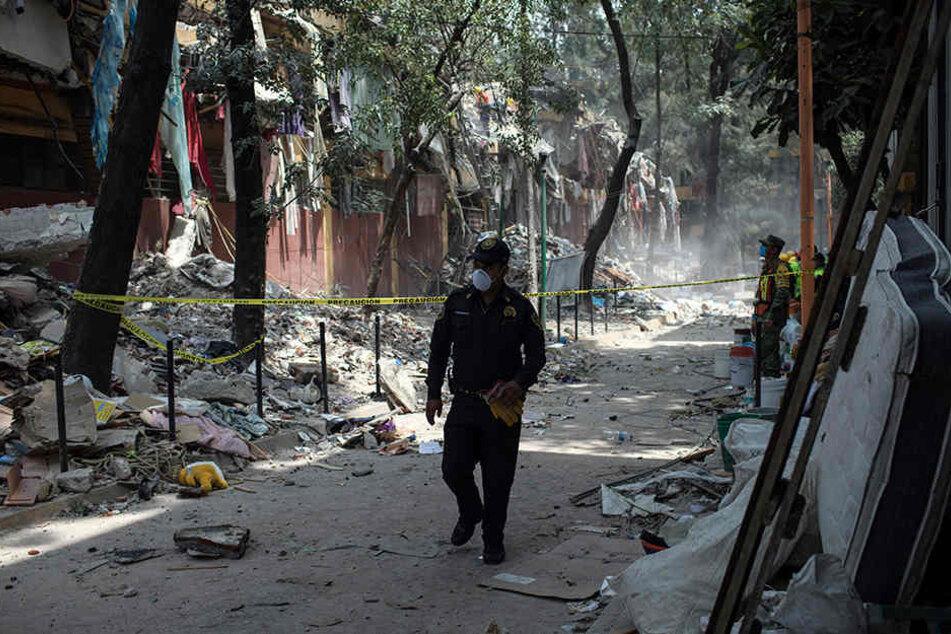 Das Erdbeben hat sichtbare Spuren in Mexiko hinterlassen