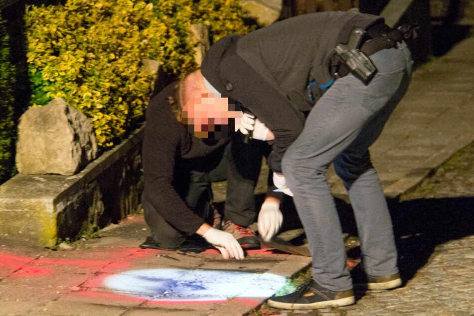 Kriminalpolizisten sicherten am frühen Morgen noch Spuren.