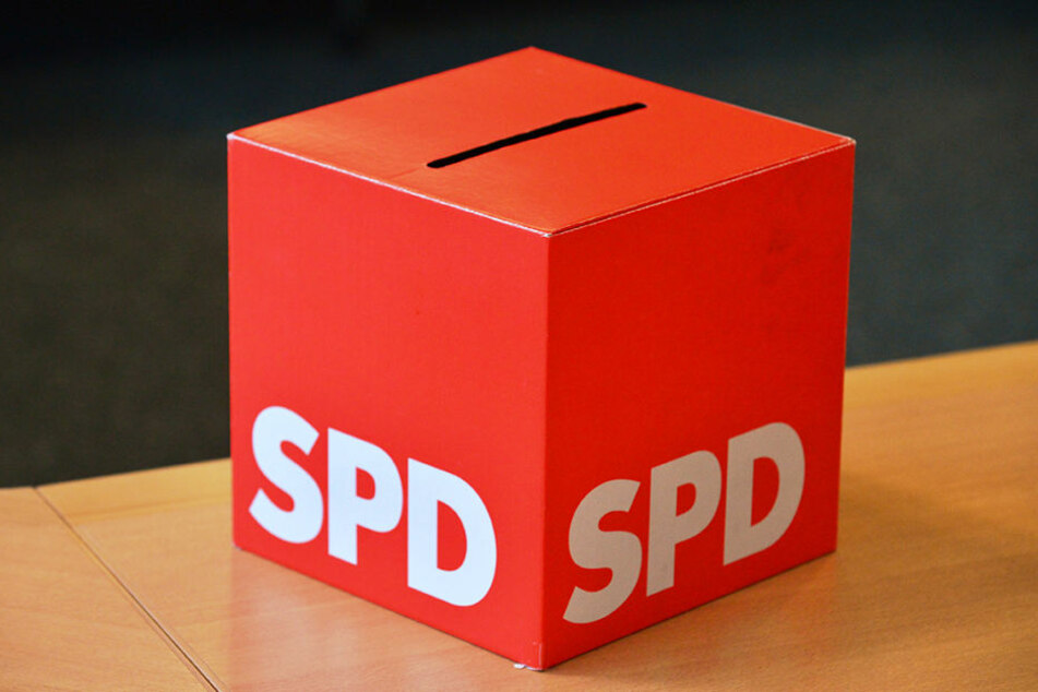Eine Wahlurne der SPD.