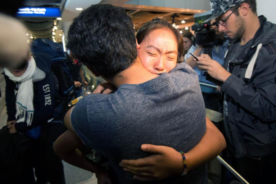 Ihr Bruder Biswash war in Deutschland geblieben. Ihn schloss die Schülerin als erstes in die Arme.