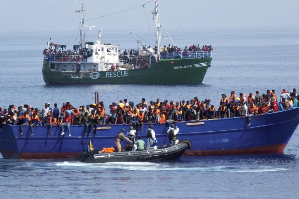 Am Mittwoch wurden allein 1100 Migranten gerettet.