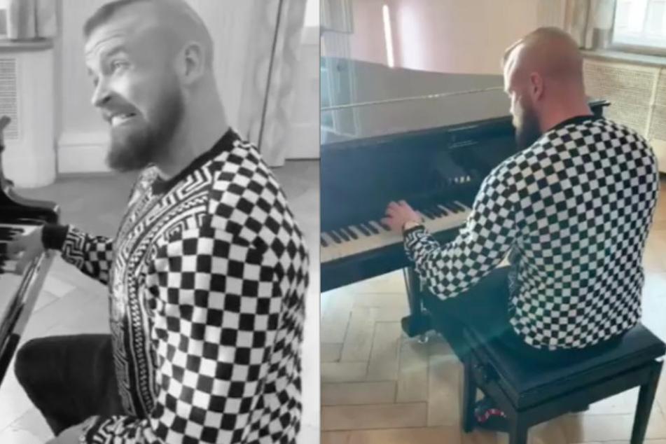 """Fans lachen sich kaputt: Kollegah zeigt sich als """"Meister"""" am Piano"""
