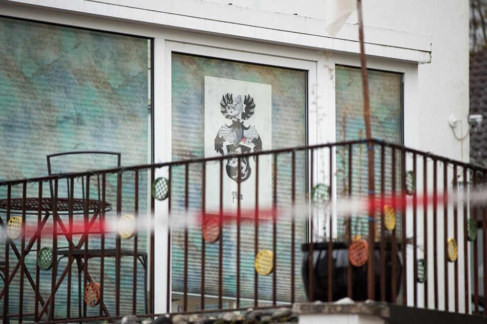 """In diesem Haus schoss der """"Reichsbürger"""" um sich."""
