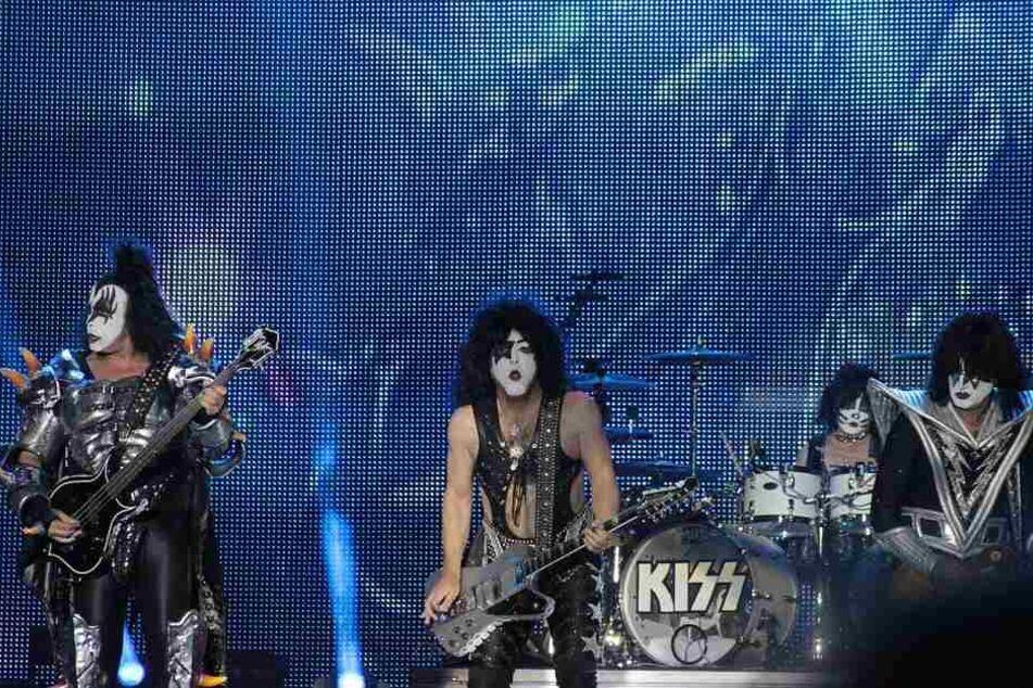 Für ihr Alter legten die vier Kiss-Stars eine ordentliche Show auf die Bühne (Archivbild).
