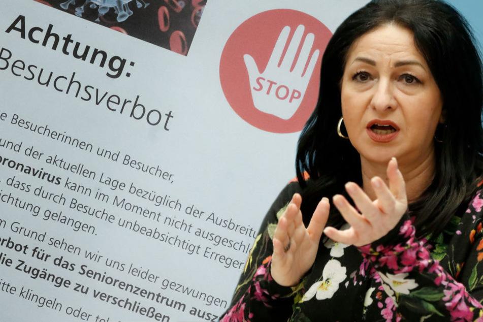 Für Pflegeheime mit mindestens einem Corona-Fall gilt vorerst ein generelles Besuchsverbot, wie Berlins Gesundheitssenatorin Dilek Kalayci (53, SPD) am Donnerstag im Abgeordnetenhaus mitteilte.