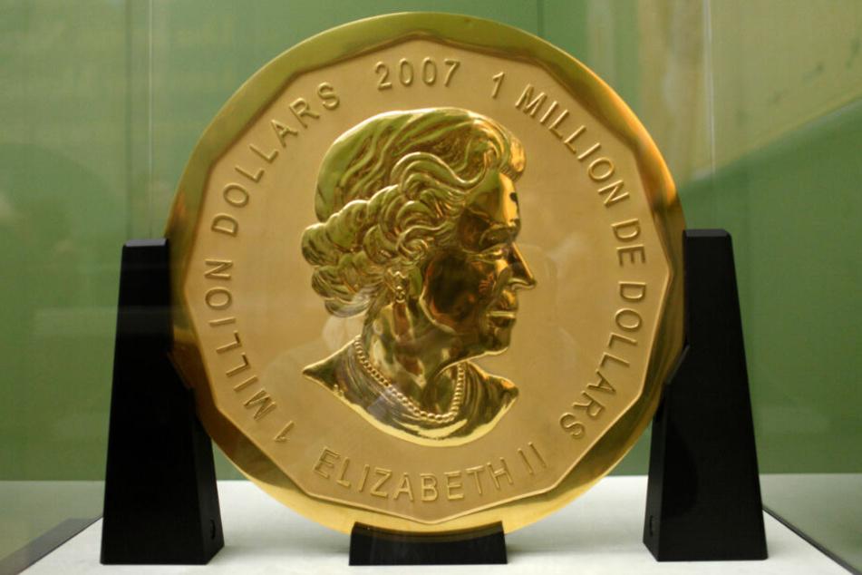 """Von der 100 Kilogramm schweren Goldmünze """"Big Maple Leaf"""" fehlt weiterhin jede Spur."""