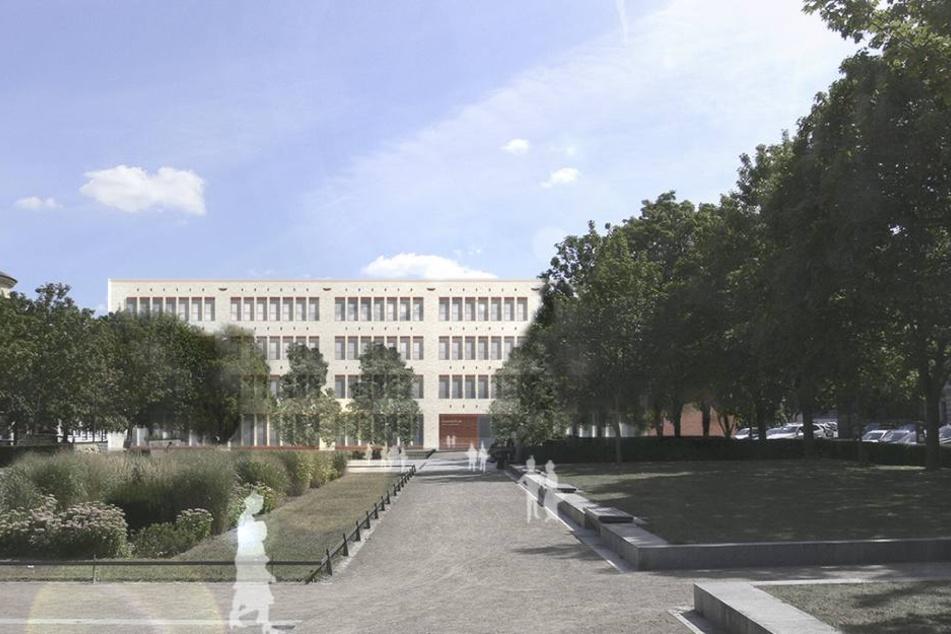 Der Entwurf für die neue Grundschule an der Jablonowskistraße.