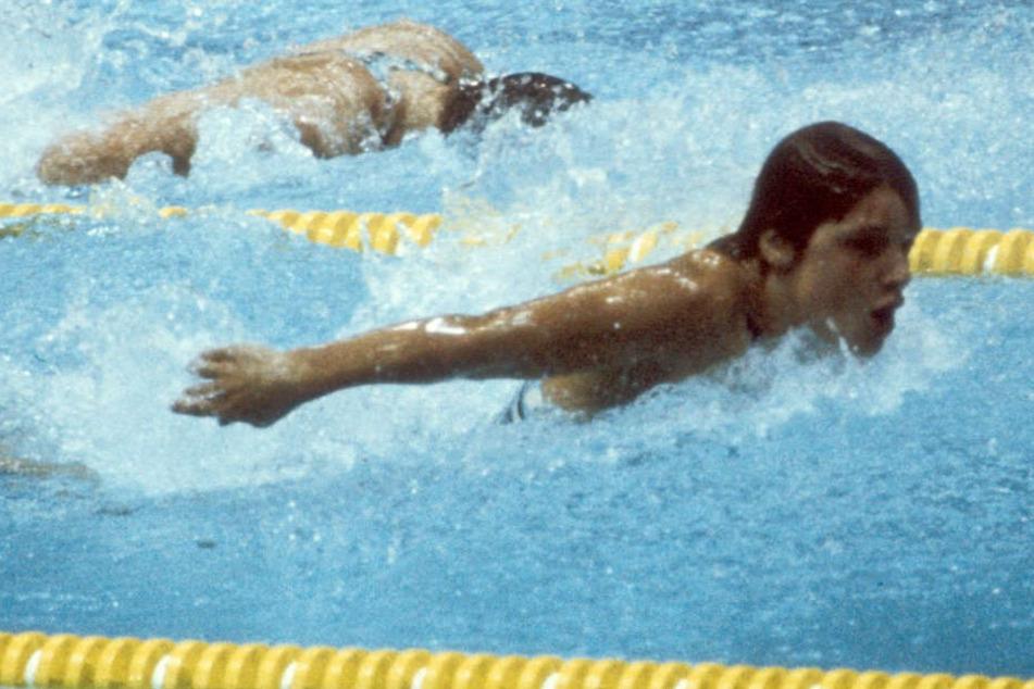 Andrea Pollack gewann drei Mal die olympische Goldmedaille. (1976)