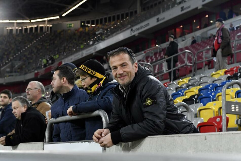 Der langjährige Dynamo-Fan und Exklusiv-Sponsor Thomas Dathe schwärmt von Kapitän Hartmann.