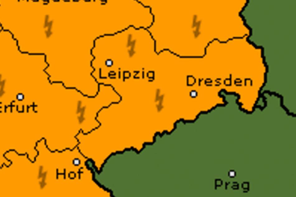 Für Sachsen gilt aktuell die Wetterwarnstufe 2.