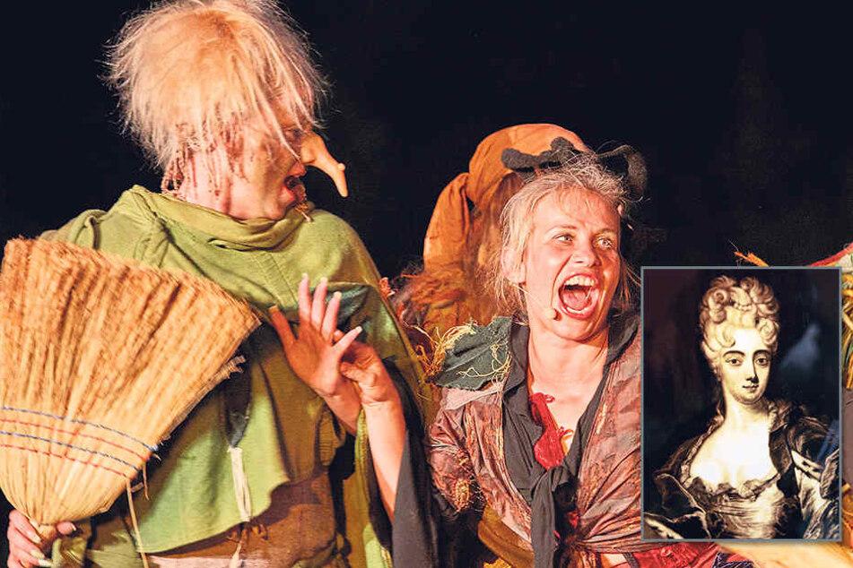 Als leidenschaftliche Hexe stieg die Ex-GZSZ-Hure im vorigen Jahr bei den Krabat-Festspielen in Schwarzkollm ein.