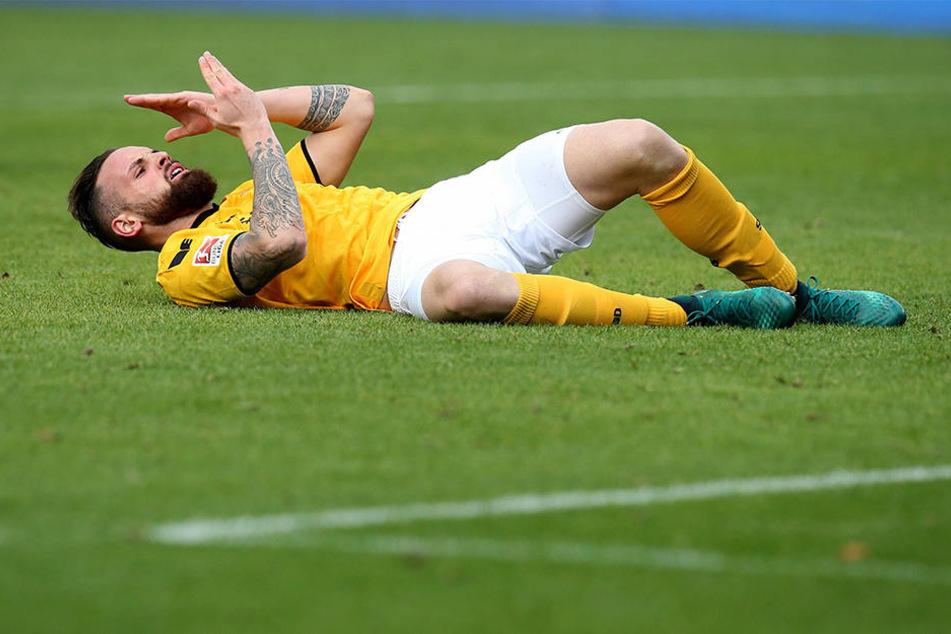 Am Boden: Giuliano Modica fällt mit Muskelfaserriss bis Jahresende aus.