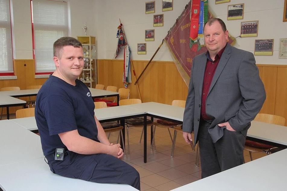Martin Richter (34), Wehrleiter in Mühlbach, und Bürgermeister Michael Neumann (53, parteilos) haben für die Grundschüler die ungewöhnliche Lösung gefunden.