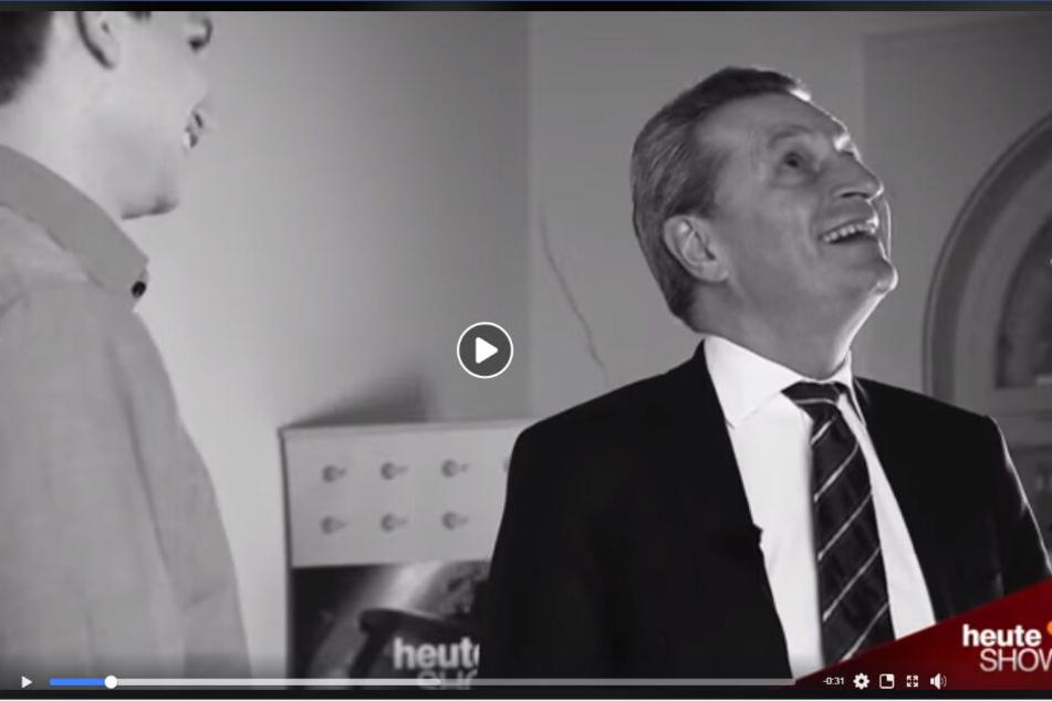 """Auch in der """"heute show"""": ein Interview mit Günther Hermann Oettinger (CDU, EU-Kommissar für Haushalt und Personal)"""