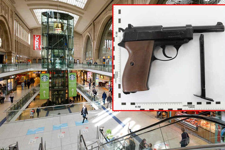 Diese Luftdruckpistole hatte der 26-Jährige bei seiner Festnahme im Hauptbahnhof bei sich.