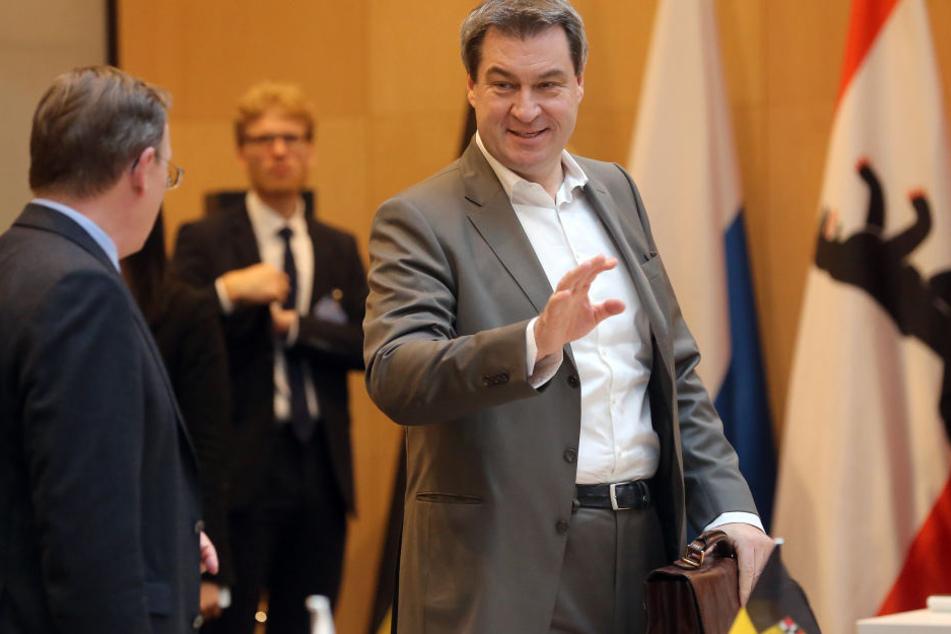 Söder (CSU) wird bereits die dritte Regierungserklärung im Landtag halten. (Archivbild)