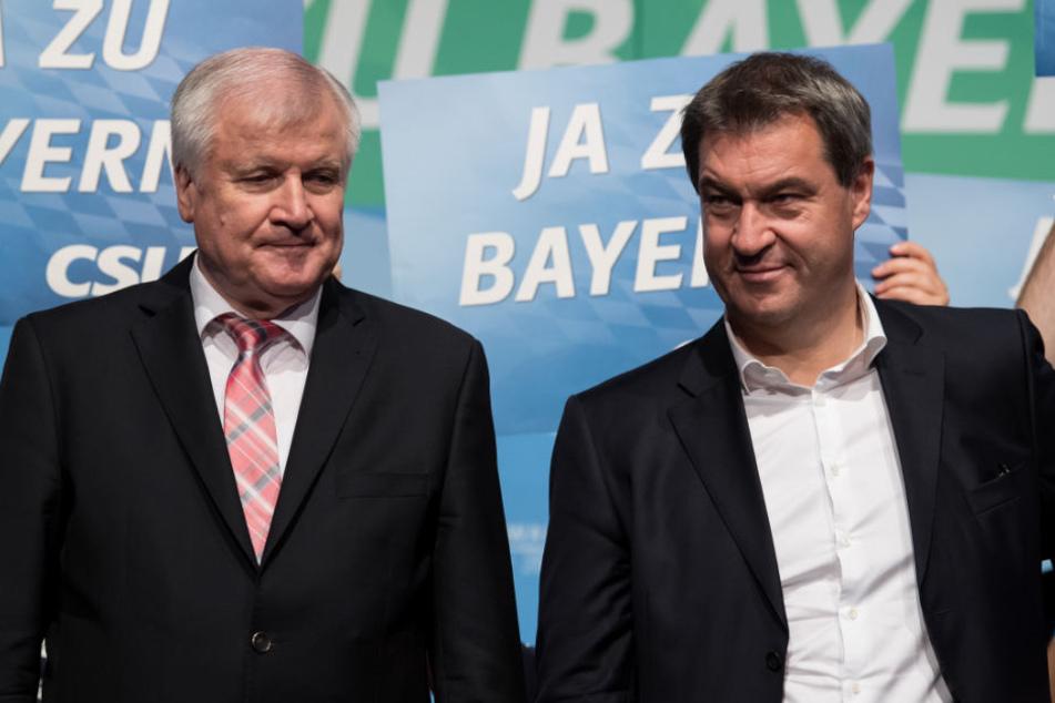Markus Söder (r) will vor allem Stabilität. Horst Seehofer will er nicht als Bundesinnenminister verdrängen. (Archiv)