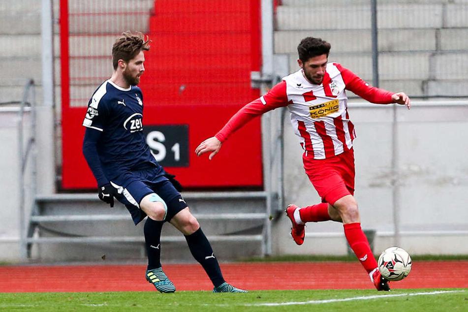Bryan Gaul (l.) kommt in Trab! Im Testspiel bei Regionalligist Rot-Weiß Erfurt kam der Rekonvaleszent Anfang der Woche erstmals für den FSV zum Einsatz.
