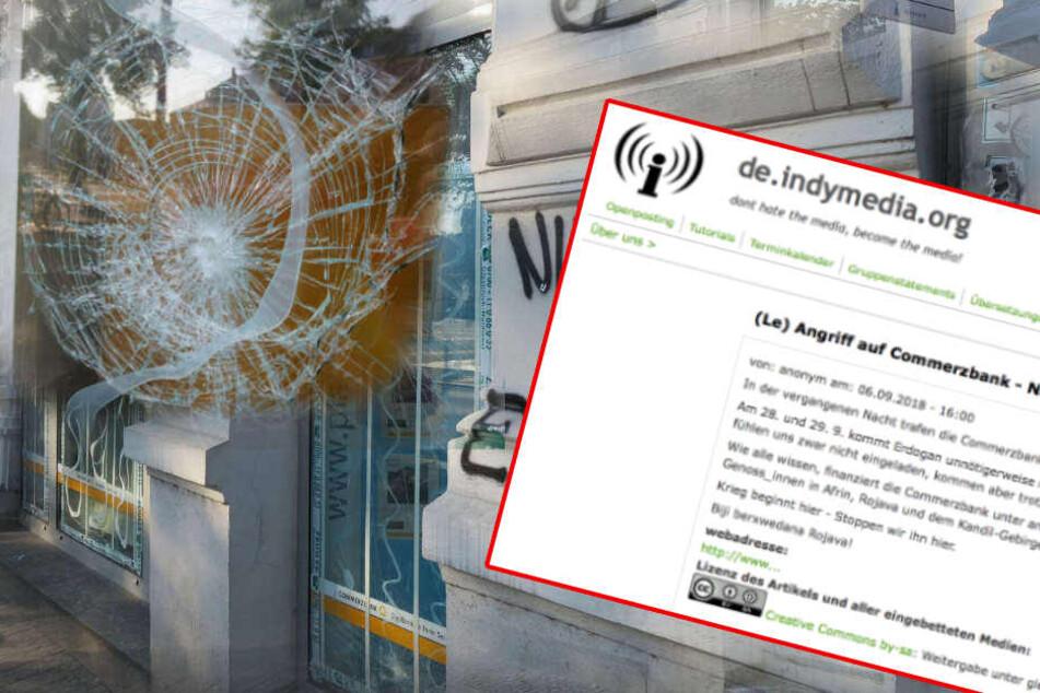 Bekenner-Schreiben nach Anschlag auf Commerzbank aufgetaucht