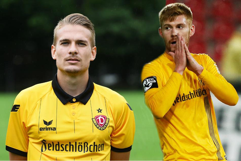 Luca Dürholtz (27) traf im Duell der Ex-Dynamos für die SV 07 Elversberg gegen Mathias Fetsch (32) und Kickers Offenbach. Beide haben jedoch nur noch geringe Chancen auf den Aufstieg in die 3. Liga.
