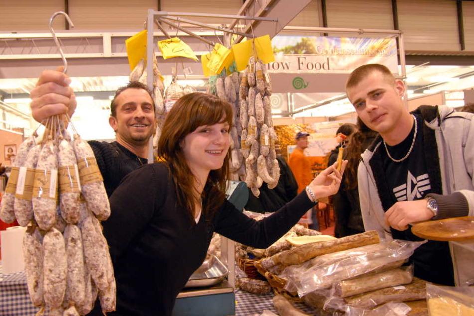 Salami aus Sizilien - nur eine von vielen Spezialitäten bei der Dresdner Kulinaria.