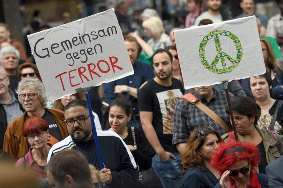 Muslime wollen mit de Demo ein Zeichen setzen.