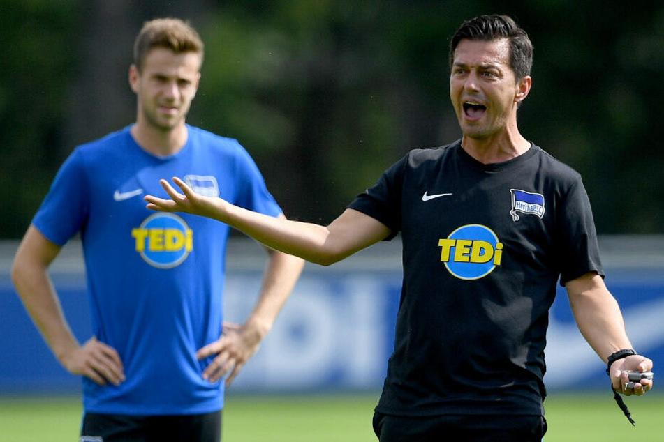 Ante Covic und Lukas Klünter beim Training.