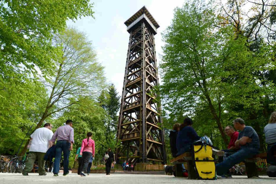 Ganz genauso wie der alte Goetheturm (Foto) wird der neue Turm nicht aussehen. Dennoch soll der Neubau möglichst originalgetreu werden.