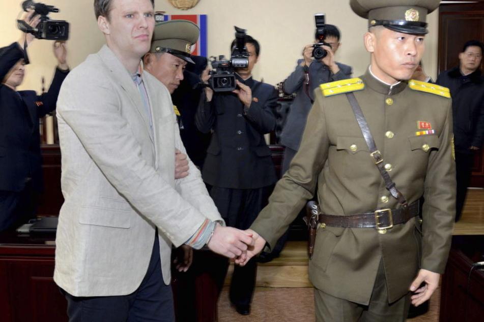 Otto Warmbier bei seiner Verhaftung im Jahr 2016.