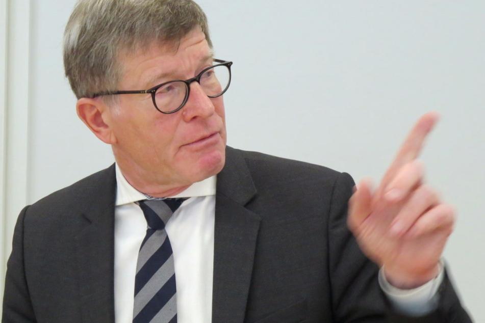 Will 2017 insgesamt 420 Millionen Euro im Freistaat verbauen: Eckart Fricke, Konzernbeauftragter der Bahn AG für Sachsen.