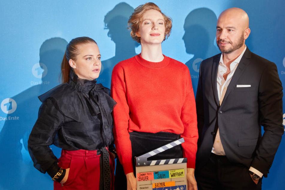 Jasna Fritzi Bauer (von links nach rechts), Luise Wolfram, und Dar Salim sind die neuen Tatort-Ermittler in Bremen.