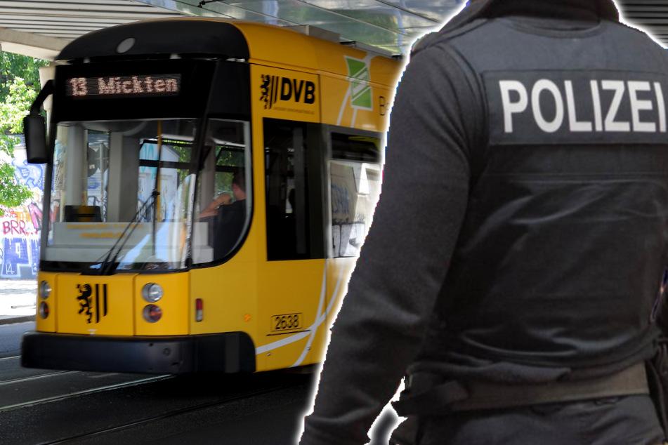 Dresden: Familie mit Schusswaffe bedroht, Mann hantiert in Straßenbahn mit Pistole