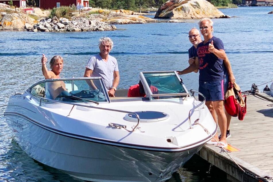 So stellt man sich Norwegen vor: Jörn Andersen (r.) beim Heimaturlaub mit seinen Kumpels.