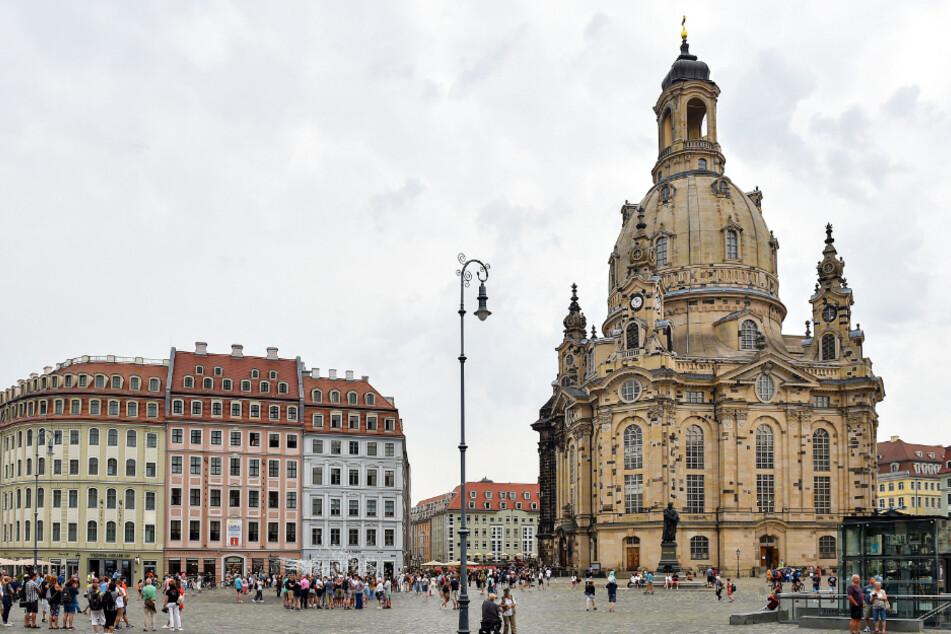 Das Filmfest Dresden findet an verschiedenen Locations in der City statt, darunter auch auf dem Neumarkt.