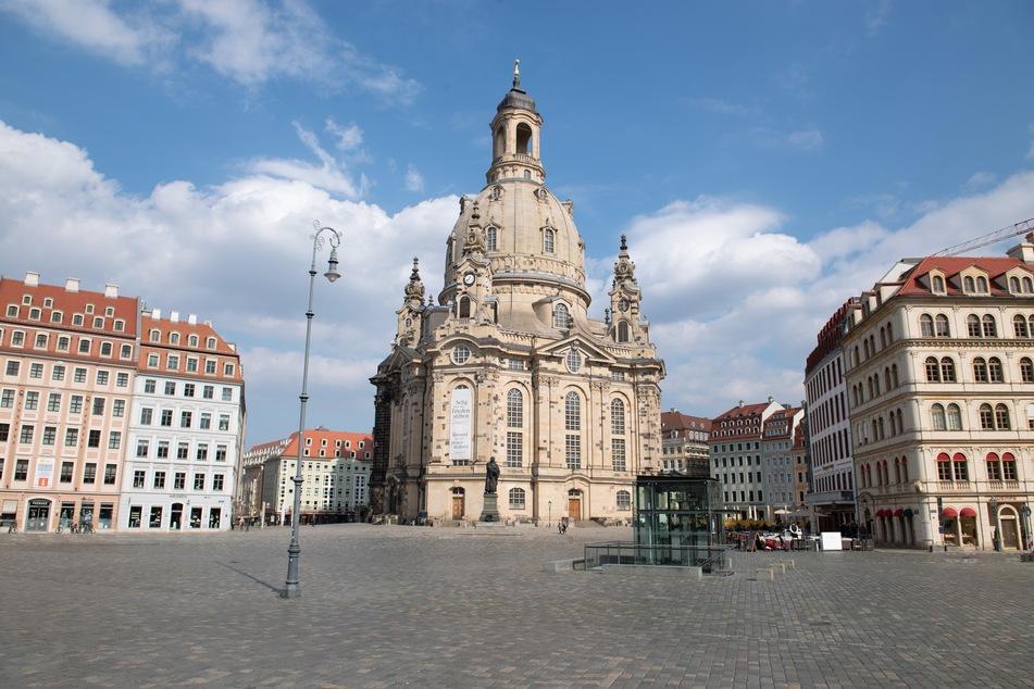 Dresden ist nun menschenleer.