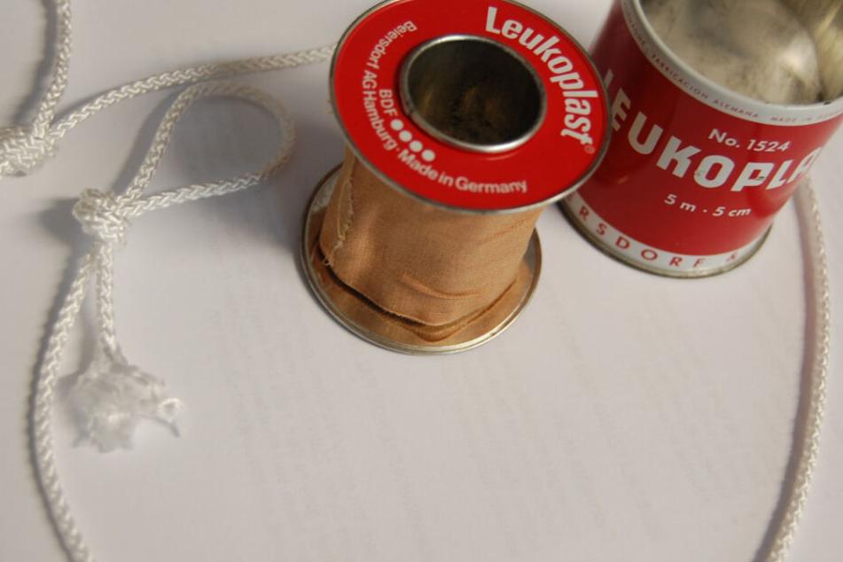 Bei der Tat soll Leukoplast und Nylonschnur verwendet worden sein.