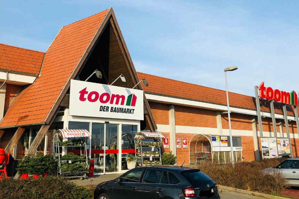 Der toom-Baumarkt in Radeberg.