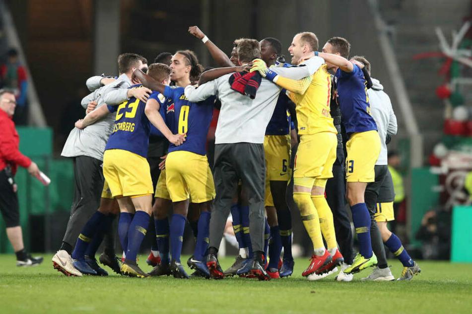 Das letzte Duell gegen den FC Augsburg gewannen die Sachsen. Es war das 2:1 nach Verlängerung im DFB-Pokal-Viertelfinale am 2. April.