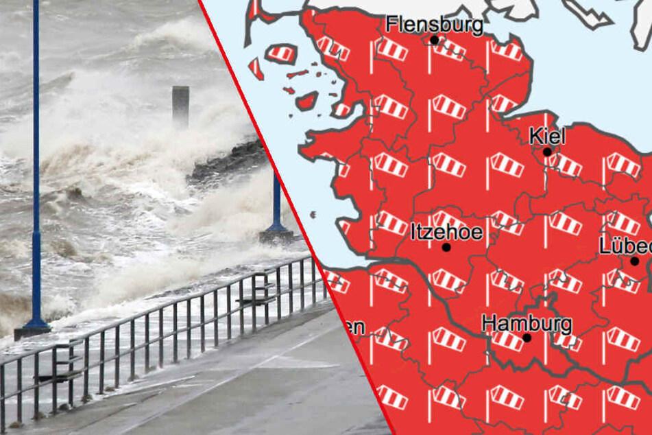"""Orkan """"Sabine"""": Fähren, Züge und Flüge gestrichen, Warnung vor Sturmfluten"""
