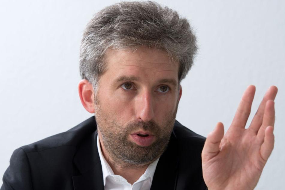 Der Oberbürgermeister von Tübingen Boris Palmer spricht.