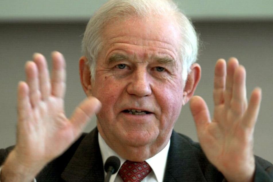 Kämpft für seine CDU: Kurt Biedenkopf (89).