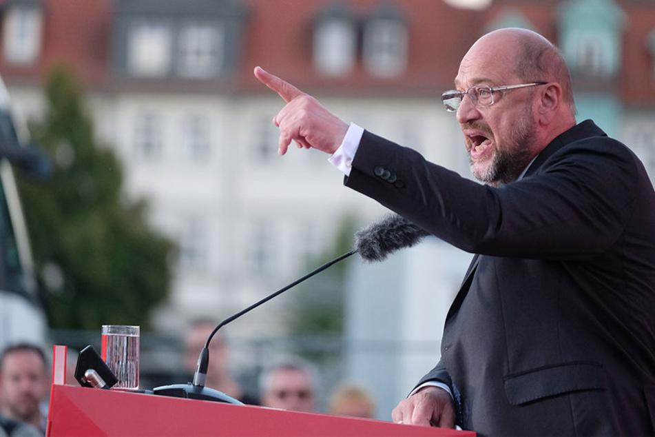 Martin Schulz (61) wird auch in Unna noch eine Wahlkampfrede halten.
