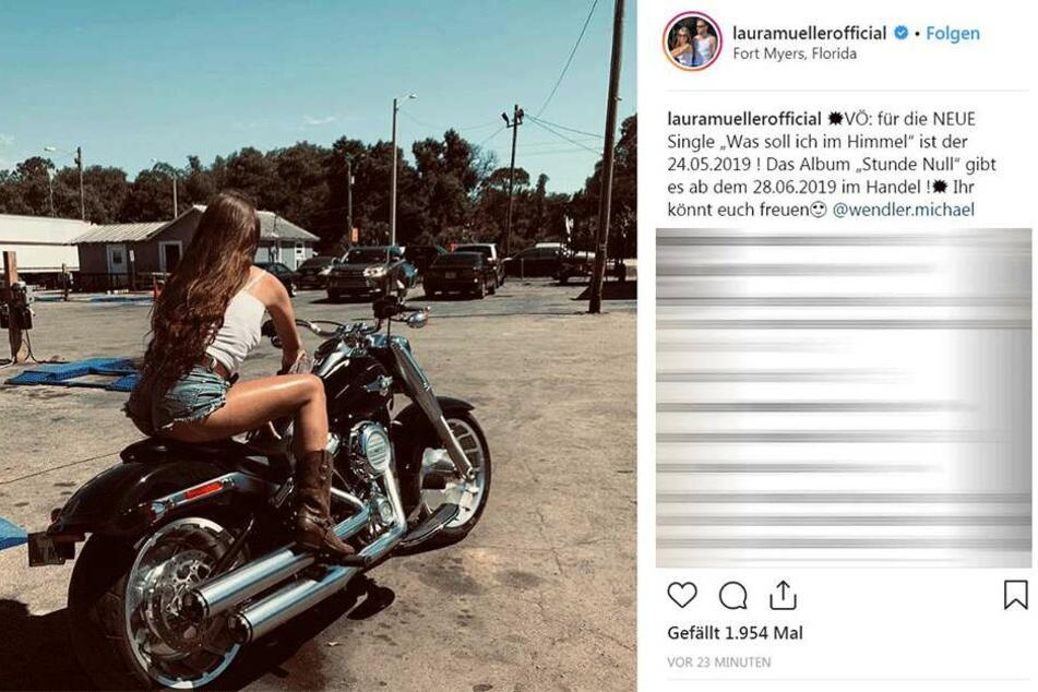 So kündigt Laura Müller (18) das neue Album vom Wendler an.