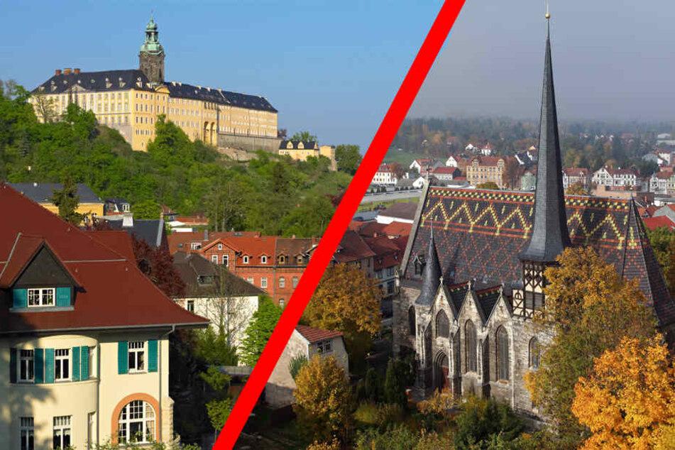 Zu den Bewerbern zählt das Städtedreieck Saalfeld/Rudolstadt/Bad Blankenburg (F.l.: Heidecksburg Rudolstadt) und Mühlhausen.