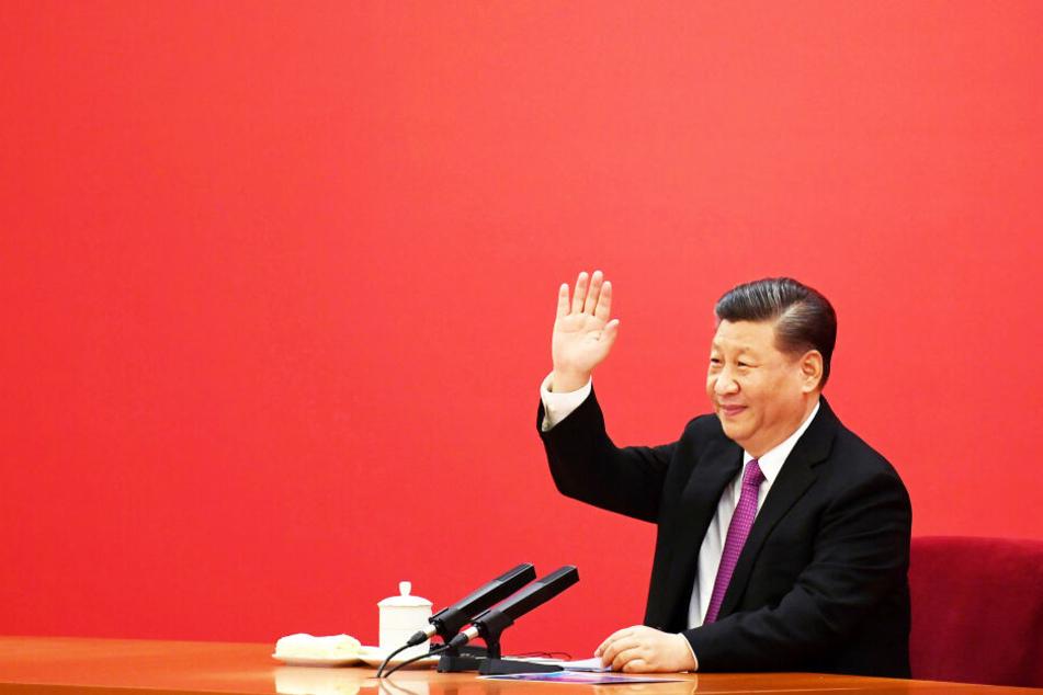 Xi Jingping, Präsident von China, bei einer Videokonferenz im Dezember 2019 (Archivbild).